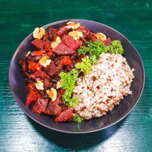Rote Bete Curry als Beispiel für ayurvedisches Essen