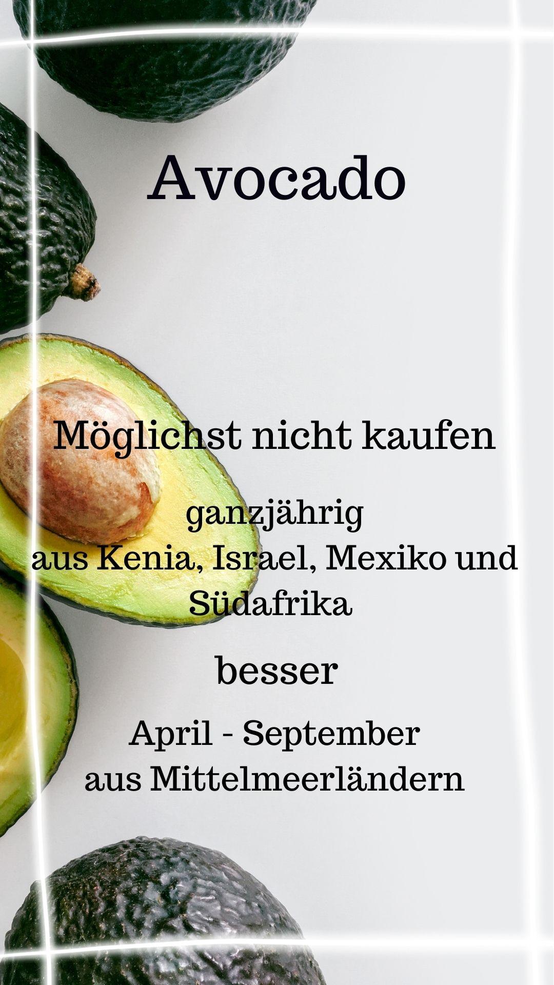 Saison Avocado April - September