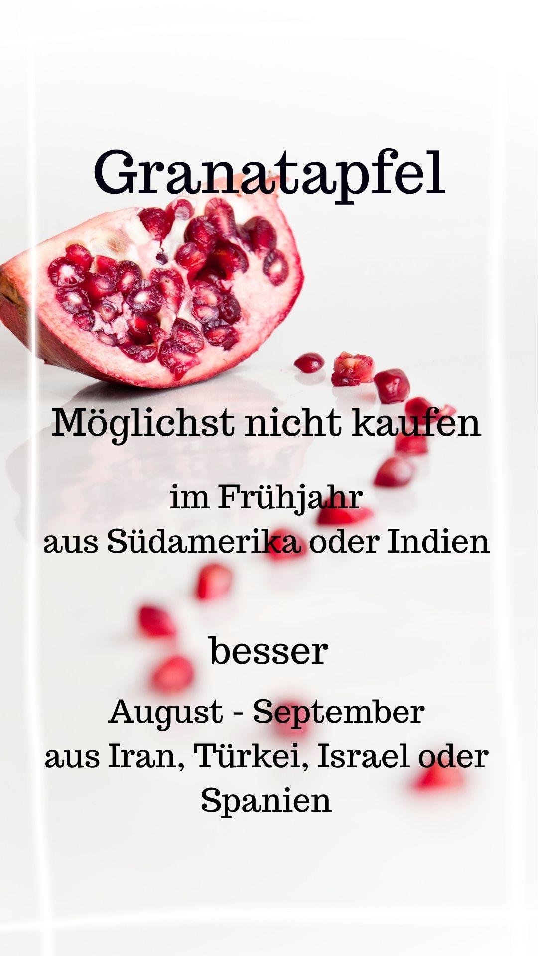 Saison Granatapfel August - November