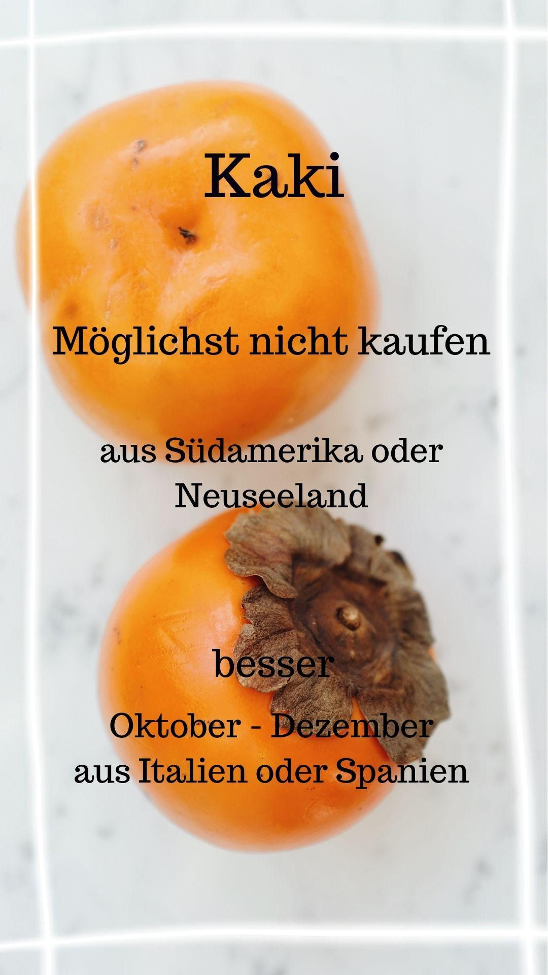 Saison Kaki Oktober - Dezember