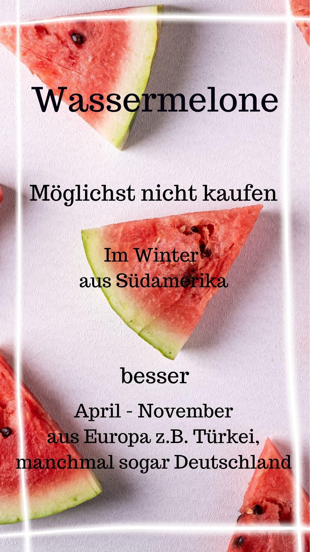 Saison Wassermelone April - November