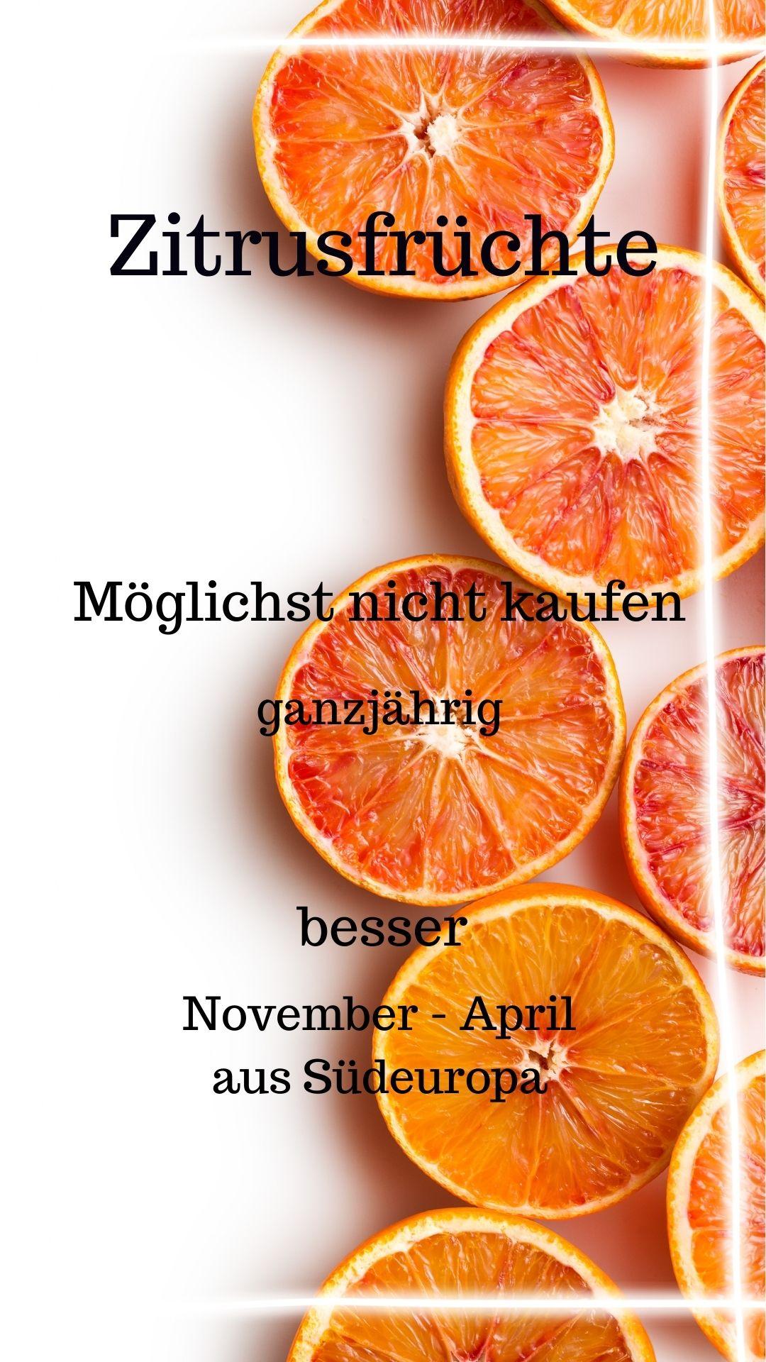 Saison Zitrusfrüchte November - April